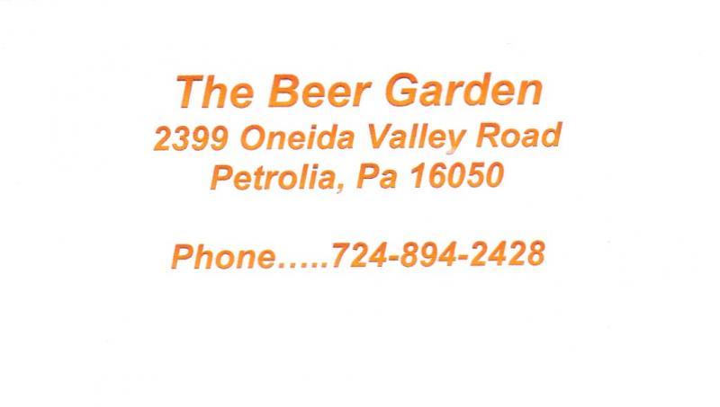 The Beer Garden, Petrolia PA